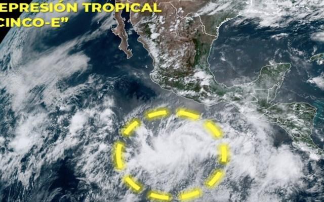 Se forma la depresión Tropical 'CINCO-E' al sur de Guerrero - Foto de SNM