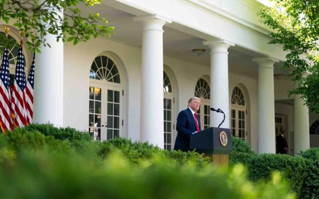 Casa Blanca detalla que Trump y AMLO conversarán sobre T-MEC y salud - Donald Trump en la Casa Blanca. Foto de @WhiteHouse