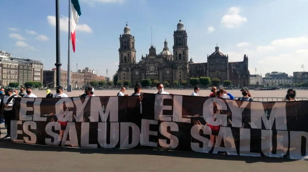 Dueños de gimnasios protestan en el Zócalo ante cierre por COVID-19 - dueños gimnasios zocalo