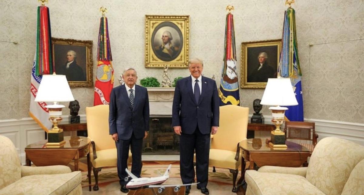 Encuentro en la Casa Blanca entre AMLO y Trump