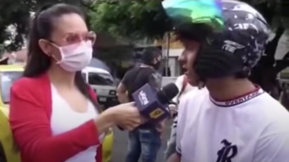 No creo en el COVID, nosotros no existimos, asegura joven en Colombia - Foto de captura de pantalla
