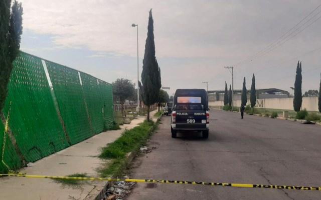 Abandonan cuerpo desollado en plaza comercial de Chalco - Lugar donde fue abandonado el cadáver en Chalco
