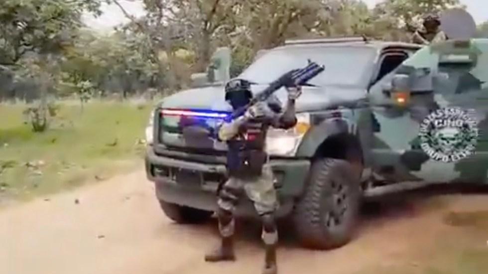 #Video Fuerzas Especiales Grupo Élite del CJNG muestran armas y vehículos - Captura de pantalla
