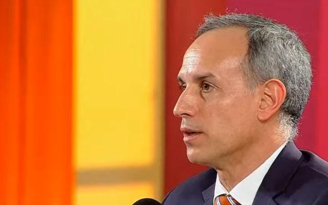 """""""Estaré pendiente de lo que instruya la SFP"""", responde López-Gatell a denuncia de MC - Hugo López-Gatell en conferencia de prensa. Captura de pantalla"""