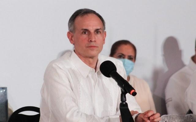 Denuncia López-Gatell uso de su imagen en promoción de supuestos productos contra COVID-19 - Hugo López-Gatell en conferencia sobre la pandemia de COVID-19 en México. Foto de @HLGatell