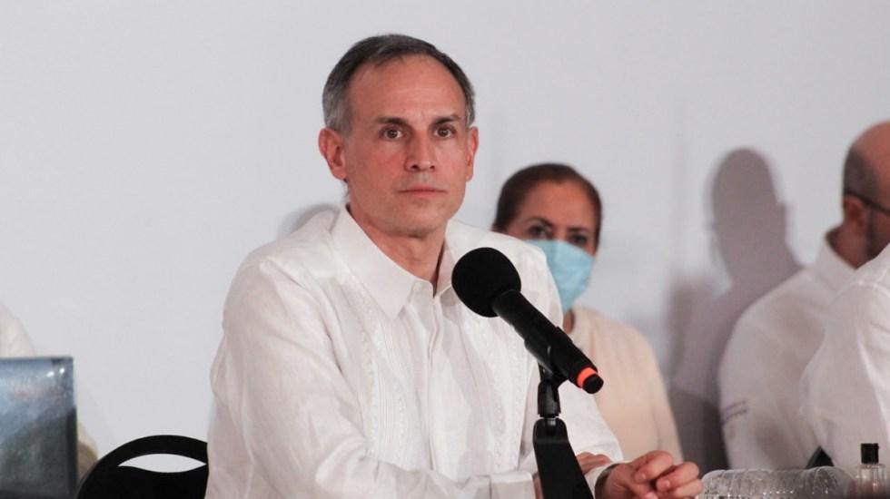 López-Gatell alerta que usan su imagen para promocionar productos contra COVID-19 - Hugo López-Gatell en conferencia sobre la pandemia de COVID-19 en México. Foto de @HLGatell