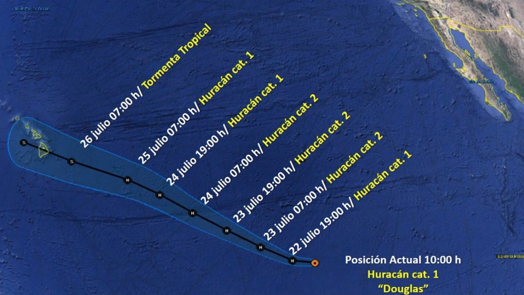 Douglas se convierte en el primer huracán de la temporada en el Pacífico - Foto de Conagua Clima
