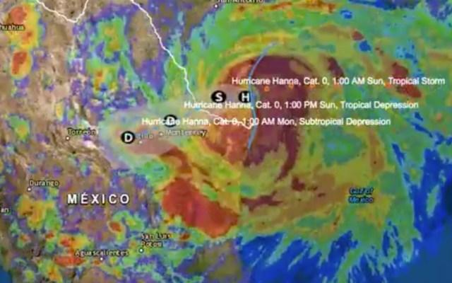 Tamaulipas, Nuevo León y Coahuila en alerta por huracán Hanna - Foto de CNPC