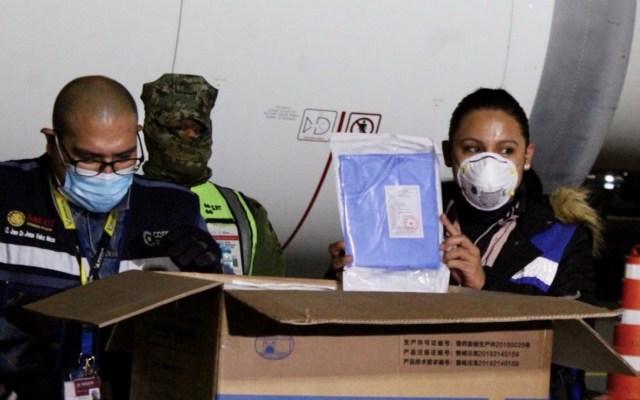 Llega a México el vuelo 25 desde China con insumos médicos - Foto de Twitter Martha Delgado