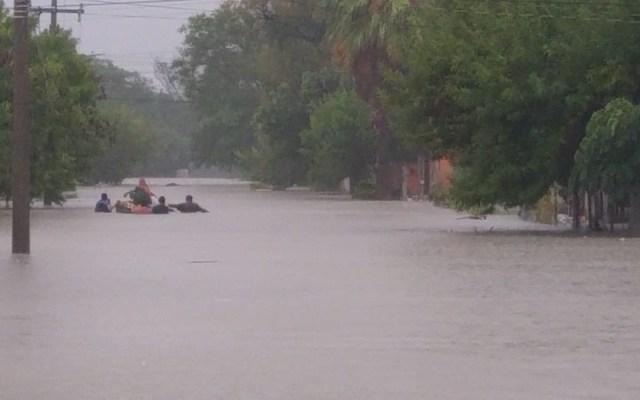 Alerta en Reynosa, Tamaulipas, por caudal del Río Bravo - Inundación en Reynosa por paso de Hanna. Foto de @MakiOrtizD