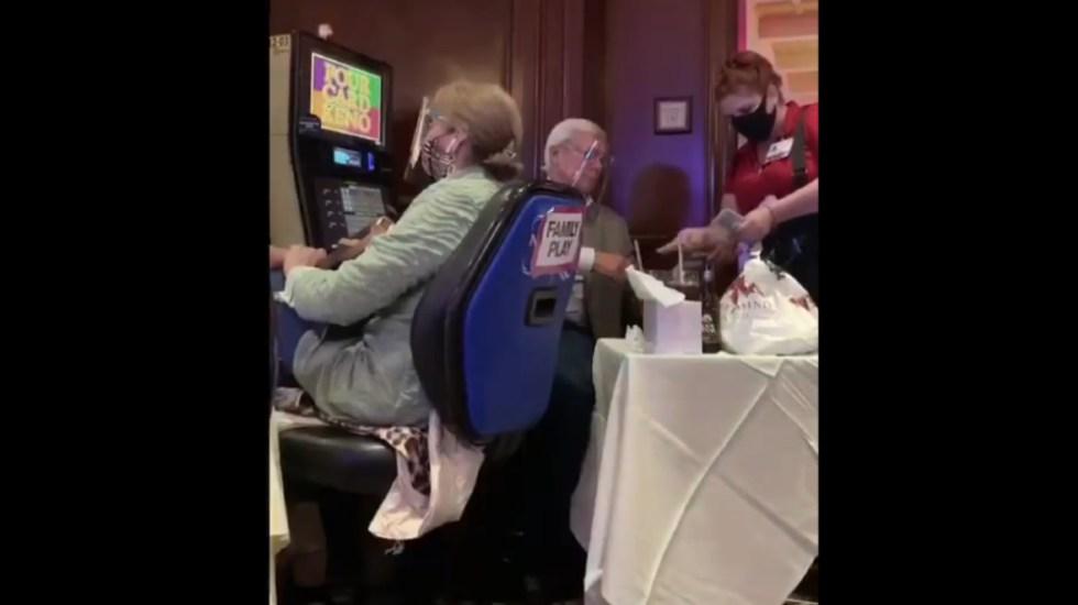 """#Video Captan a Jaime Bonilla jugando en casino de EE.UU.; """"me fue muy bien"""", asevera - Foto de captura de pantalla"""