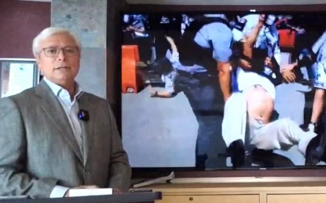 Jaime Bonilla pide renuncia de Javier Jiménez Espriú como titular de la SCT - Jaime Bonilla reclama agresión de la Guardia Nacional a bajacalifornianos. Captura de pantalla / @JaimeBonillaValdez