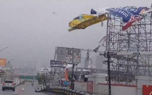 Nuevo León suspende este lunes actividades y transporte público por paso de Hanna - Lluvias Nuevo León tormentas