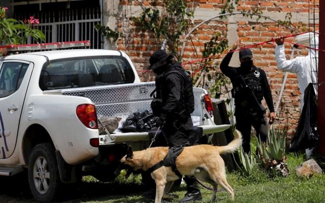 Suman 56 mil 956 homicidios en lo que va del sexenio de AMLO - Fotografía fechada el 17 de julio de 2020 que muestra a Miembros de la Fiscalía del Estado y peritos del Instituto Jalisciense de Ciencias Forenses (IJCF) trabajando en una nueva fosa clandestina en El Salto, Jalisco. Foto de EFE/ Francisco Guasco.