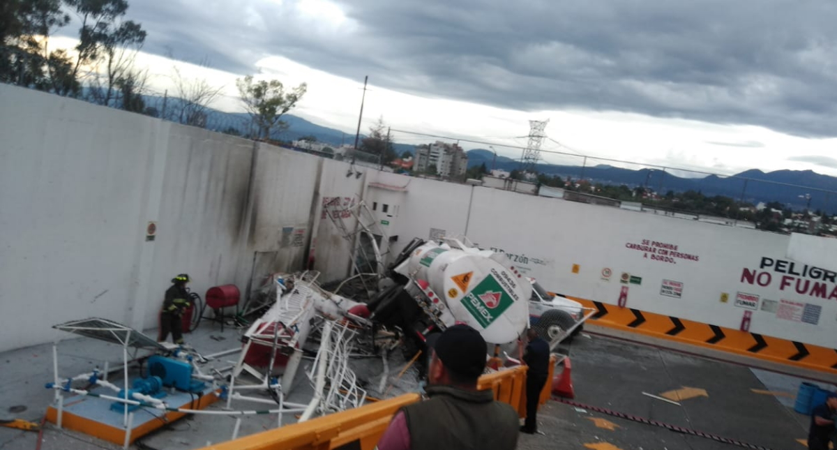 Pipa gas accidente Álvaro Obregón 5