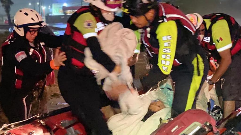 Protección Civil Nuevo León rescate Hanna