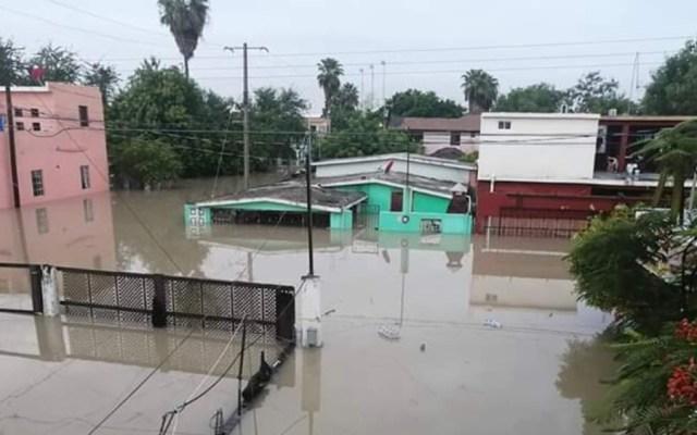 Alertan por riesgo de desbordamiento del río Bravo tras fuertes lluvias por Hanna - Foto de @lakalusha