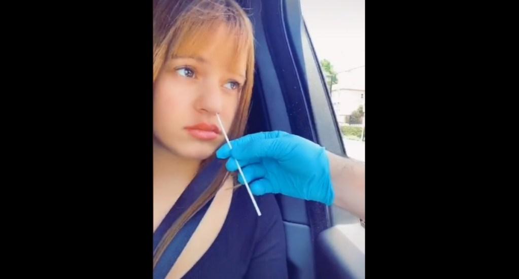 #Video Rosalía se hace una prueba rápida de COVID-19 - Rosalía prueba COVID-19