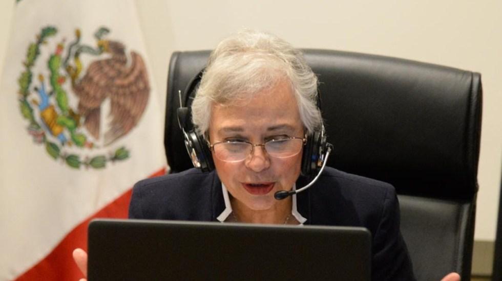 Buscamos un federalismo incluyente y de consensos, asegura Sánchez Cordero - Sánchez Cordero durante Tercera Sesión Ordinaria del Consejo Consultivo del Inafed. Foto de @SEGOB_mx