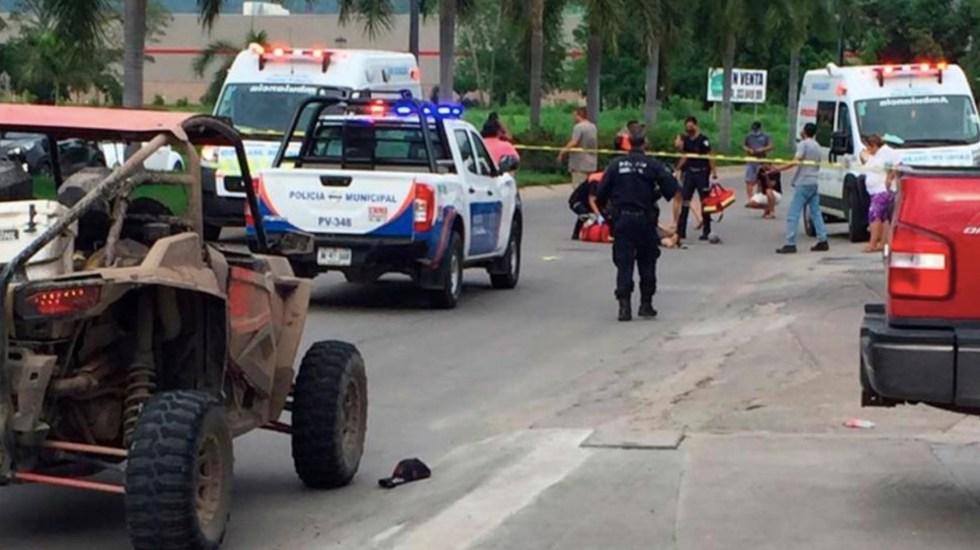 #Video El momento que turistas de Guanajuato fueron atacados en Puerto Vallarta - Foto de Tribuna de la Bahía