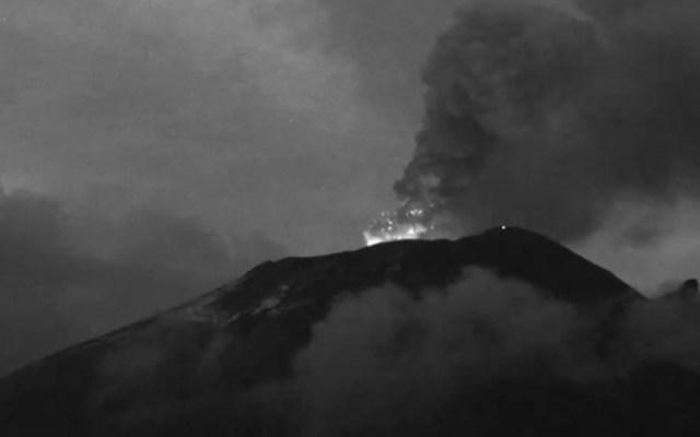 #Video Tremor en el Popocatépetl, prevén caída de ceniza hacia el Edomex - Volcán video Popocatépetl CNPC México