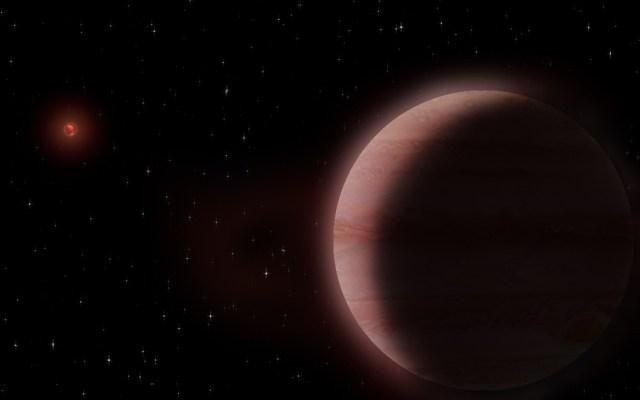 Científicos mexicanos descubren exoplaneta similar a Saturno - Animación de exoplaneta descubierto por científicos mexicanos. Foto de Luis A. Curiel Ramírez