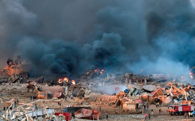 No hay reporte de mexicanos afectados por explosión en Beirut, afirma Marcelo Ebrard - Foto de EFE