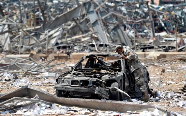 A casi un mes de la explosión de Beirut, continúan desaparecidas siete personas - Foto de EFE