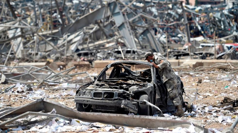 Siguen en arresto domiciliario 16 personas tras explosión en Beirut - Foto de EFE