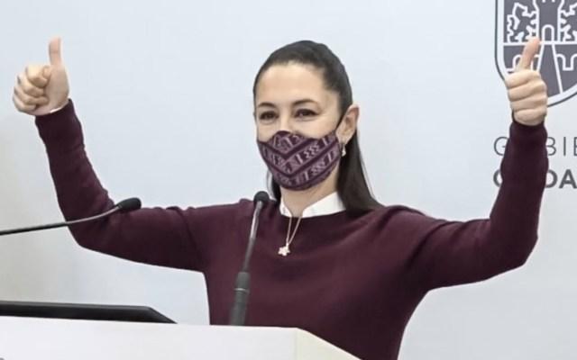 Claudia Sheinbaum da negativo a prueba de COVID-19 - Claudia Sheinbaum celebra que dio negativo a la prueba de COVID-19. Captura de pantalla