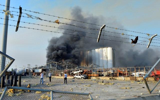 Declaran estado de emergencia en Beirut tras explosión - Destrucción tras explosión en Beirut. Foto de EFE