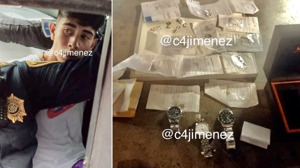 Detienen a sospechoso tras asalto a joyería en Parque Delta - Detenido asalto Joyería Parque Delta Cuauhtémoc