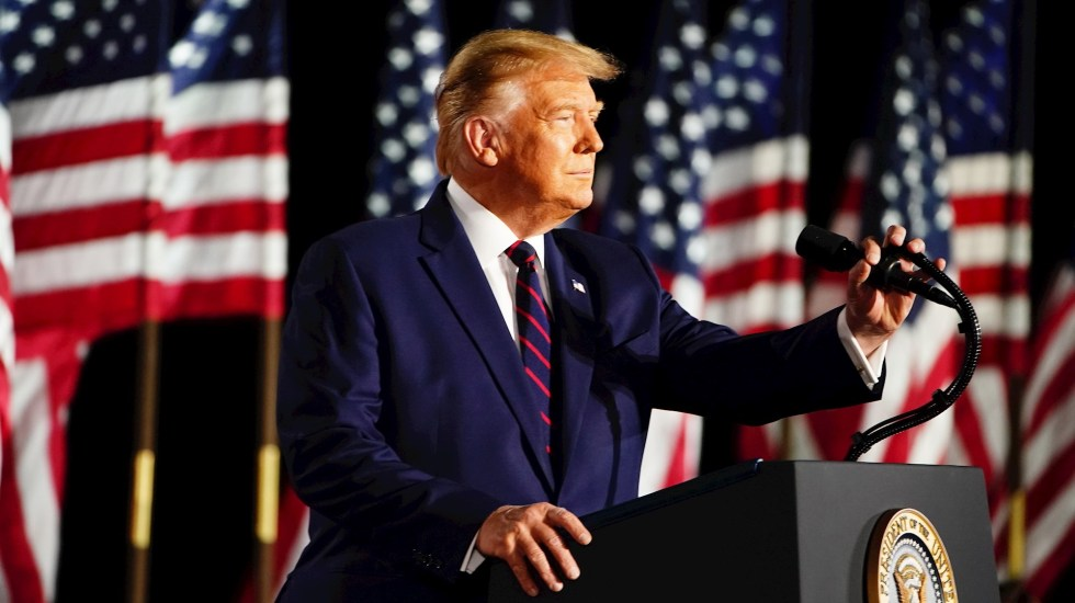 Donald Trump acepta candidatura a reelección como presidente de EE.UU. - Foto de EFE/EPA/JIM LO SCALZO