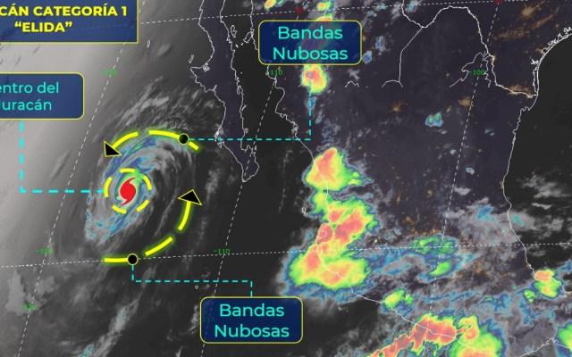 'Elida' provocará lluvias aisladas en Baja California Sur, se aleja de costas mexicanas - Elida huracán Cat 1 11082020