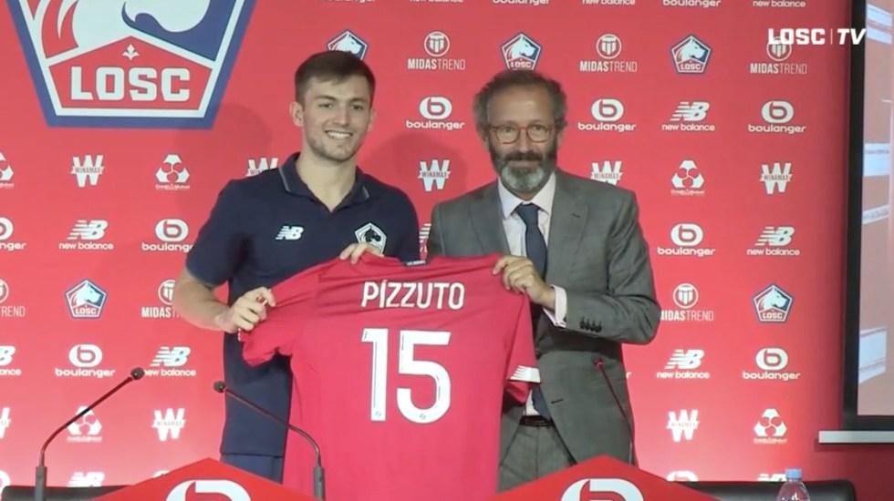 Presentan a Eugenio Pizzuto con el Lille de Francia - Presentación de Eugenio Pizzuto con el Lille de Francia. Captura de pantalla