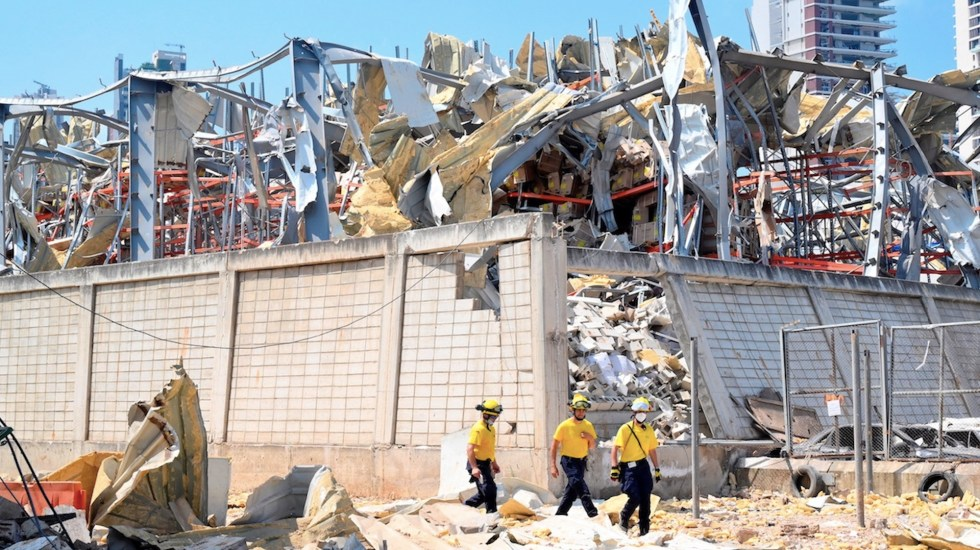 Presidente de Líbano no descarta intervención externa en explosión de Beirut - Foto de EFE