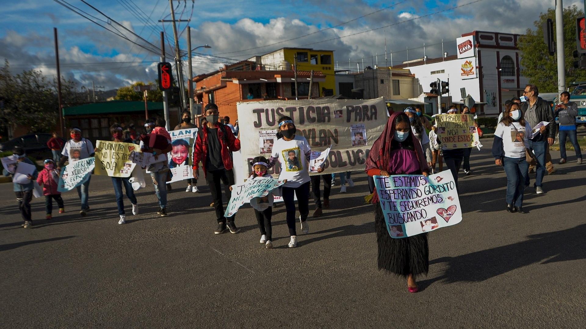 Familiares Marcha Chiapas caso Dylan búsqueda desaparecido 2