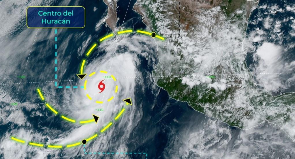 'Elida' se intensifica a huracán categoría 1 cerca de Colima - Huracán Elida