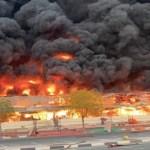 Incendio consume mercado de Ajman, en Emiratos Árabes