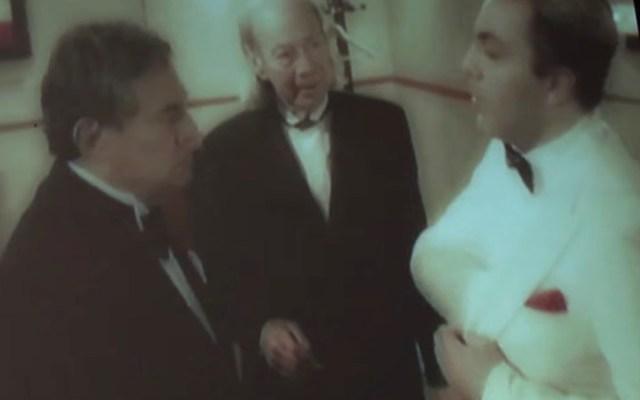 Recuerda Verónica Castro a 'El Loco' Valdés junto a Cristian Castro y José José - José José, 'El Loco' Valdés y Cristian Castro. Captura de pantalla