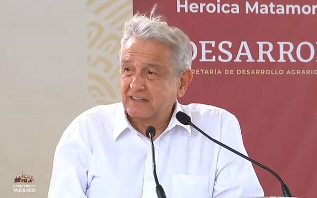 """#Video """"No debió hacerse este acto, estamos en plena pandemia"""", reconoce López Obrador en Matamoros - López Obrador en Matamoros, Tamaulipas. Captura de pantalla"""