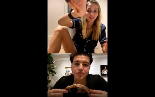 #Video Samuel García reprende a su esposa por 'enseñar mucha pierna'; asegura que fue una 'broma' - Momento en que Samuel García reprende a su esposa por 'enseñar mucha pierna'. Captura de pantalla