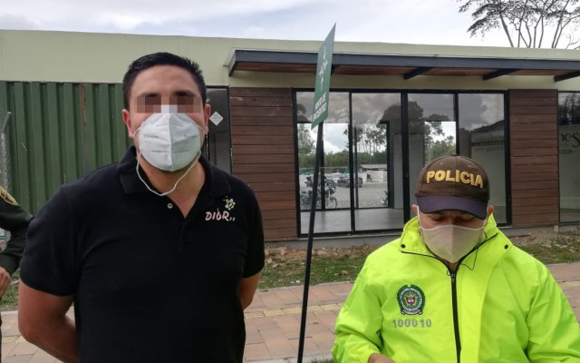 Detienen en Colombia a presunto operador de Los Zetas - 'Monster', presunto operador de Los Zetas. Foto de @FiscaliaCol
