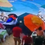 #Video Moto acuática arrolla a comensales de restaurante en Cabo San Lucas