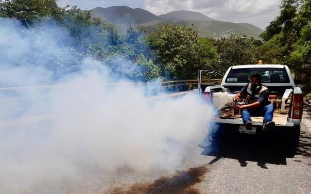 Llama Gobierno de Guerrero a prevenir reproducción del mosco del dengue - Nebulización contra el dengue en Guerrero. Foto de Municipio de Chilpancingo