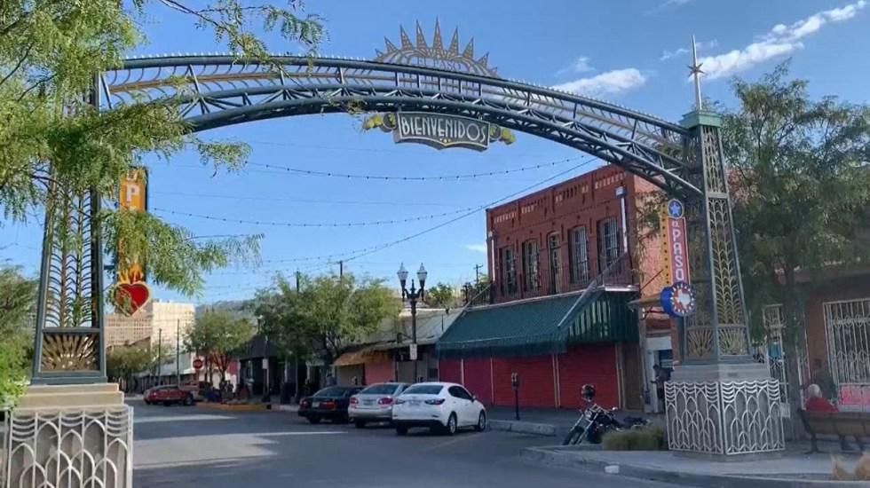 Decretan toque de queda en El Paso, Texas, por aumento de casos por COVID-19 - Negocios cerrados en El Paso, Texas. Foto de EFE