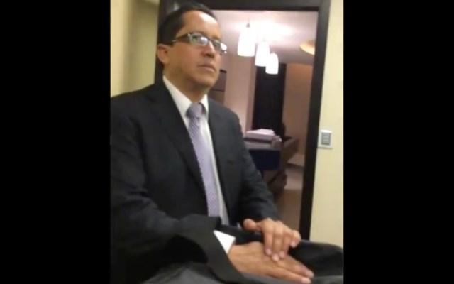 No están dando importancia al video de presuntos sobornos a exfuncionarios del Senado, afirma AMLO - Guillermo Gutiérrez Badillo. Foto de captura de pantalla