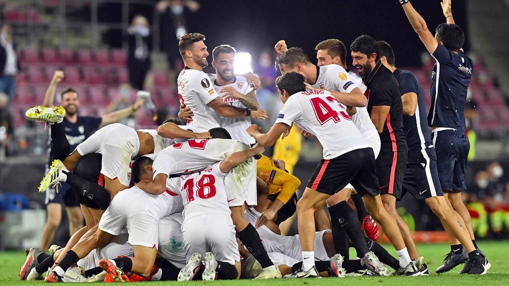 Sevilla conquista su sexto título de la Europa League tras vencer al Inter en reñida final - Sevilla Europa League Inter final 21082020