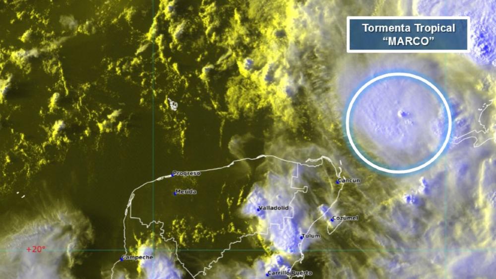Tormenta tropical Marco ocasionará lluvias muy fuertes, vientos y oleaje en costas de Yucatán y Quintana Roo - Foto de Conagua