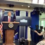 #Video Servicio Secreto interrumpe en conferencia a Donald Trump por tiroteo afuera de la Casa Blanca